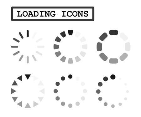Load Icons Vector Image Set.
