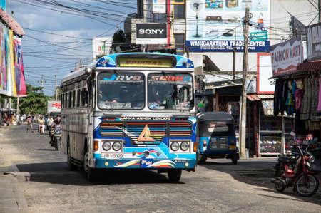 streetlife: A bus on the street of Trincomalee, Sri Lanka Editorial