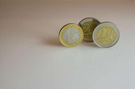 Collection of Euro coins