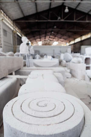ionic: Spiral Ionic sculpture made of Italian marble