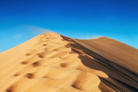 sand dunes at death valley national park in nevada usa - stovepipe wells - mesquite flat dunes Stock Photo