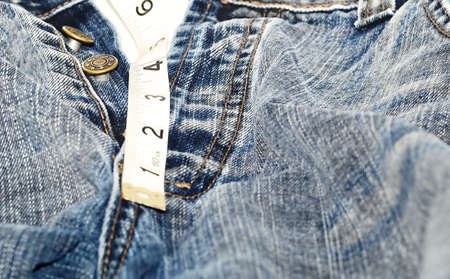 inches: jean and  measure (4 inches)