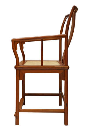 rosewood: Rosewood chair on white background