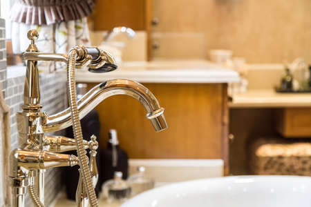 home furnishing: Gorgeous Home Furnishing faucet residential, marble, granite Stock Photo