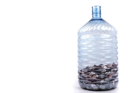 monies: A Large Plastic Change Jar