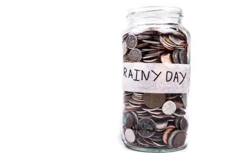 monies: Rainy Day Change Jar