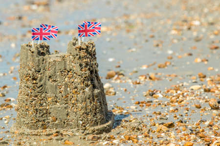 jacks: Sand Castle With Union Jacks