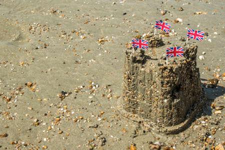 jacks: Sand Castle With Union Jacks