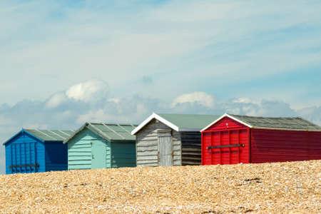 beach huts: Beach Huts on Hayling Island