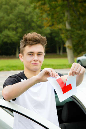 Passed Driving Test Stock Photo