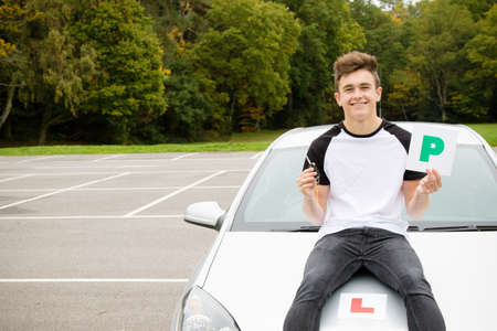 test passed: Passed Driving Test Stock Photo