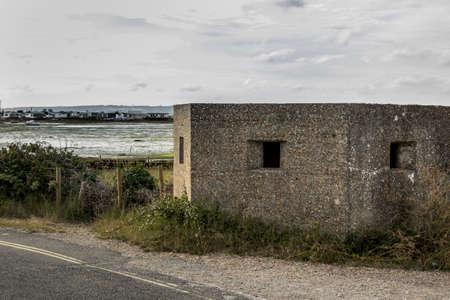 world war 2: World War 2 Coastal Defences Hayling Island UK