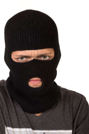 ski mask: Teenage Boy Waering A Ski Mask