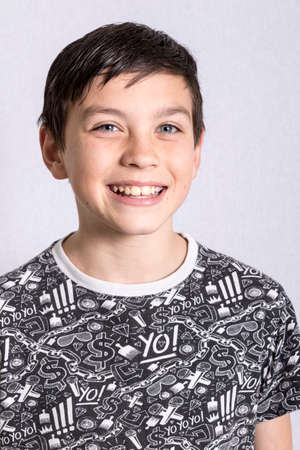 boy 12 year old: Portrait of a boy smiling