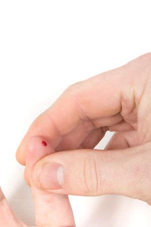 prick: Blood Prick For Sugar Levels Stock Photo