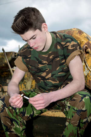 14 15 years: Teenage soldier giving up smoking