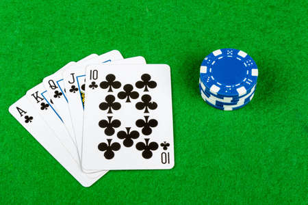 royal flush: Royal Flush and betting chips