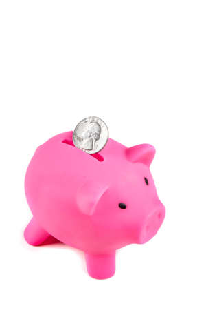 Piggybank with Unites States Quarter coin