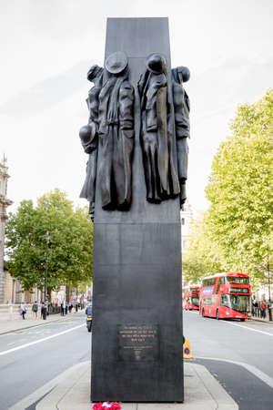 London, 28th September 2017:-The Women of World War 2 Memorial, Whitehall Editorial
