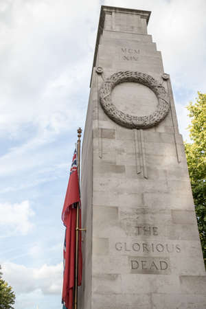 London, 28th September 2017:-The Cenotaph, Whitehall. Now designated the United Kingdoms official national war memorial.