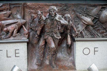 London, 28th September 2017:-Memorial to the Battle of Britain pilots from Fighter Command of World War 2 Éditoriale