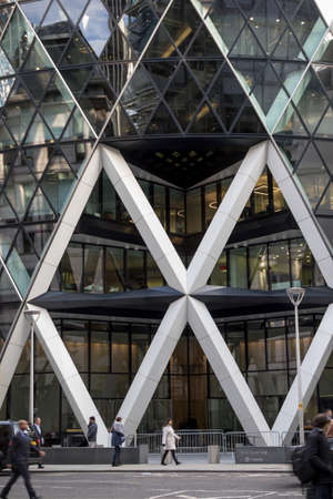 London, United Kingdom - October 30th, 2017:- The Gherkin office building at 30 St Mary Axe