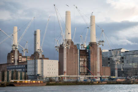 London, 18th January 2018:- Battersea Power Station currently undergoing renovation located on the South Bank of the River Thames and is located near the embassy of the United States.