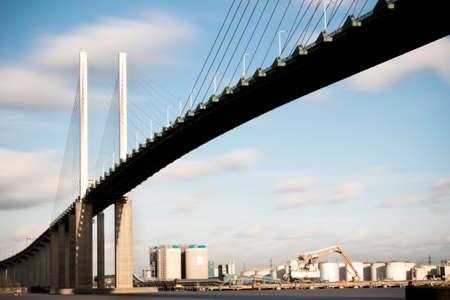 The Queen Elizabeth II bridge across the River Thames at Dartford