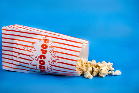 A bag of popcorn concept for cinema, theatre or watching any form of entertainment
