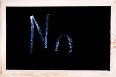 Blackboard with white chalk writing showing capital and lowercase N