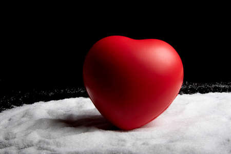 Healthcare concept with a heart on sugar for a healthy life Stock Photo