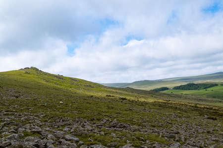 The area surrounding Belstone Tor in Dartmoor National Park, Devon, United Kingdom Banco de Imagens