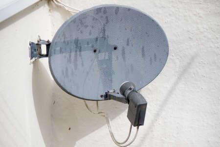 A domestic TV satellite dish Zdjęcie Seryjne