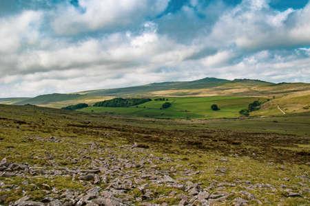A view of the moor land of Dartmoor National Park, Devon, United Kingdom 版權商用圖片