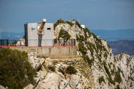Gibraltar, United Kingdom, 1st October 2018:- Lord Aireys Battery at the summit of the Rock of Gibraltar. Gibraltar is a British Overseas Territory located on the southern tip of Spain. 新聞圖片