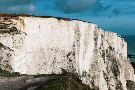 A view over the famous White Cliffs of Dover, Kent, United Kingdom
