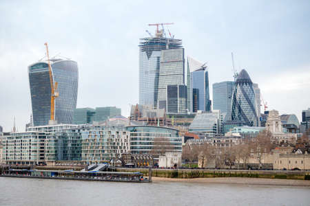 London, United Kingdom, 31st January 2019:-A view of the skyline of the City of London Editorial