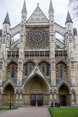 London, United Kingdom, 31st January 2019:- Westminster Abbey in London where the British Royals are crowned. Redakční