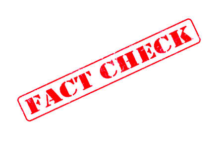 Rubber stamp concept showing a red stamp reading Fact Check