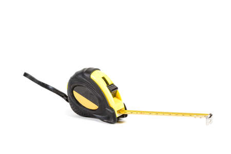 A tape measure isolated on a white background