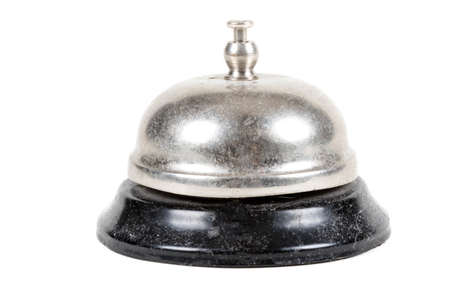 A metal reception bell isolated on a white background