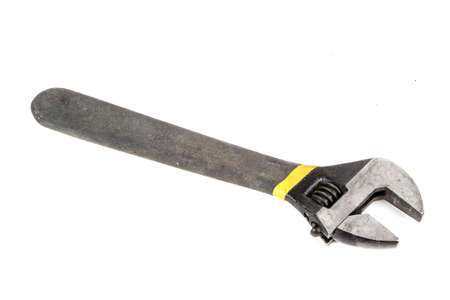 An adjustable spanner isolated on a white background