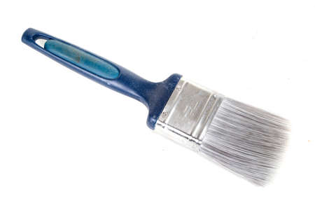 A paint brush isolated on a white background