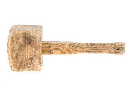 A wooden mallet isolated on a white background