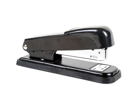 An office stapler isolated on a white background Banco de Imagens