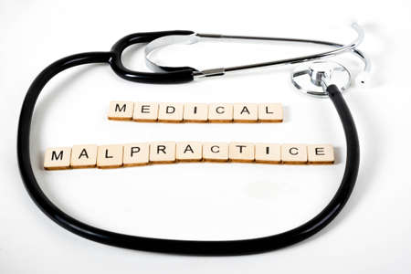 Medical or Healthcare concept with a stethoscope and the message Medical Malpractice