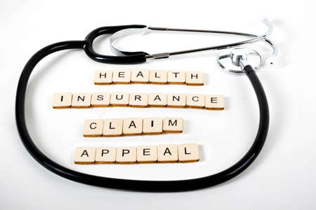 Medical or Healthcare concept with a stethoscope and the message Health Insurance Claim Appeal