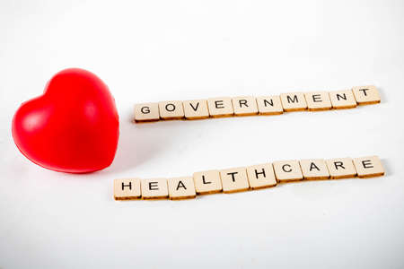 Healthcare concept showing a heart and the message government healthcare