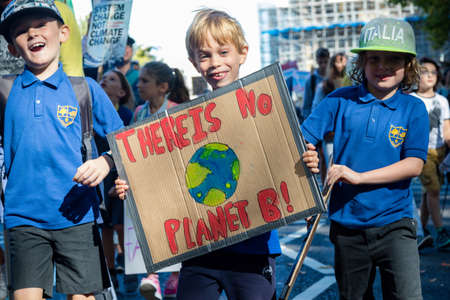 London, United Kingdom, 20th September 2019:- Climate Change Protesters gather in Westminster, central London near the British Parliament as part of a global day of protest