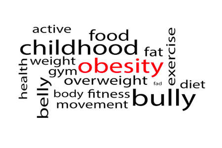 Wordcloud langauge and word concepts for obesity Stok Fotoğraf - 135723420